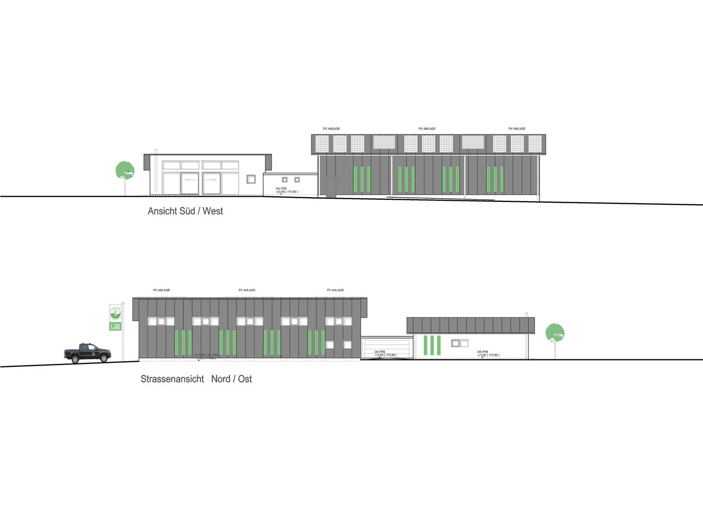 Architektur und design neubau gewerbehalle mit wohnhaus for Architektur und design